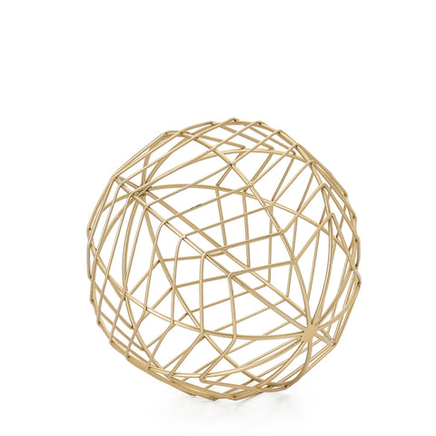 "Chevron Metal Wire 8"" Decor Ball - Medium"