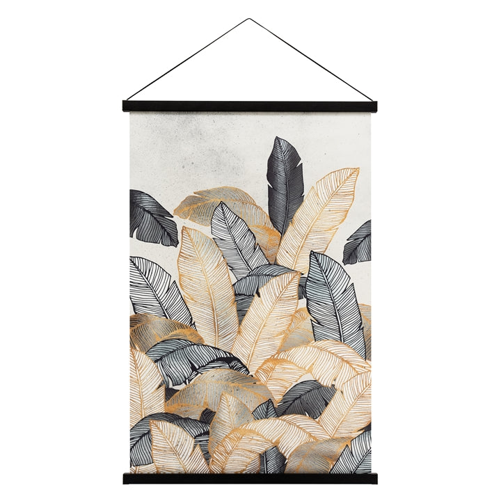 Miko Hanging Printed Canvas Rolled Wall Art - Palm Leaves