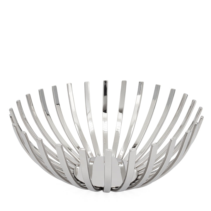 "Flare Rib 12d"" Stainless Steel Decor Bowl"