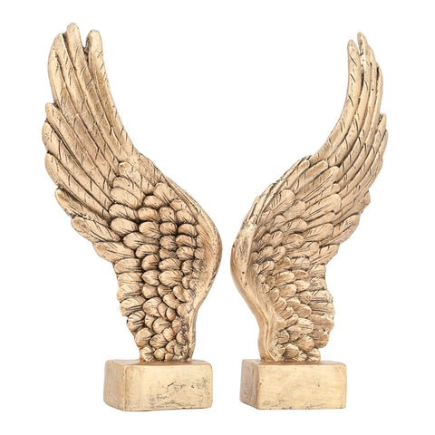 Guardian Antique Wings 2 Piece Decor Sculpture Set - Gold
