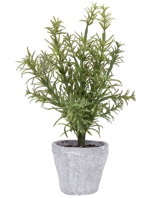 Provence Rustic Potted Faux Rosemary Herb Plant - Small