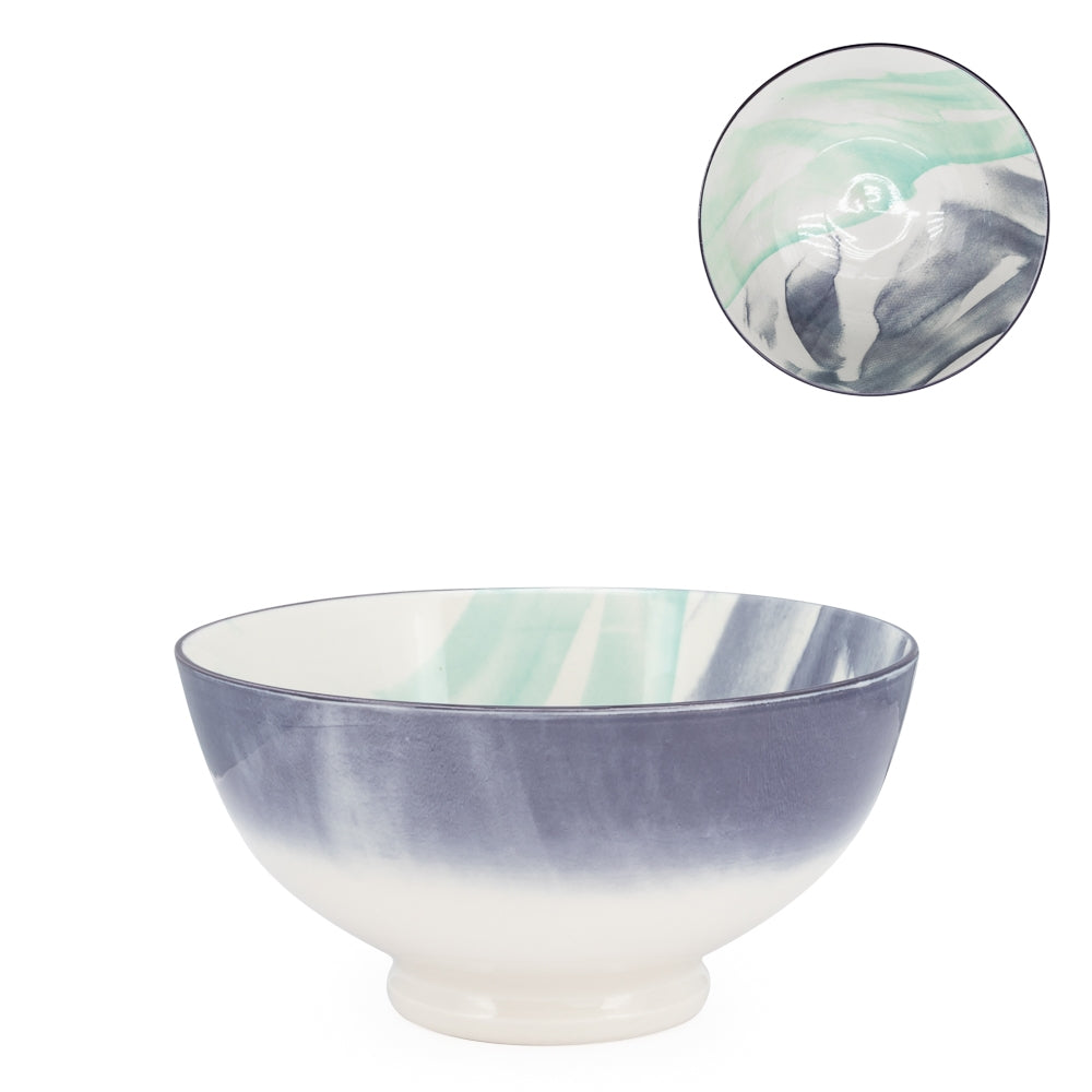"Kiri Porcelain 6"" Diameter Bowl - Watercolor Brush"