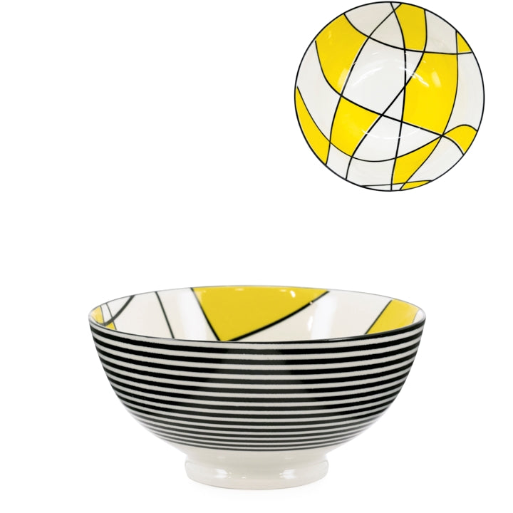 "Kiri Porcelain 6"" Medium Bowl - Abstract Yellow"