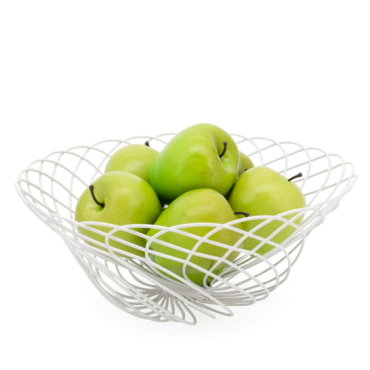 Spiro Wire Fruit Basket - White