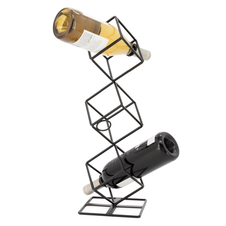 Stacked Cube 3 Bottle Wine Rack
