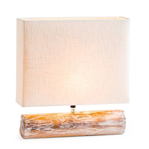 Resin Log Lamp - White