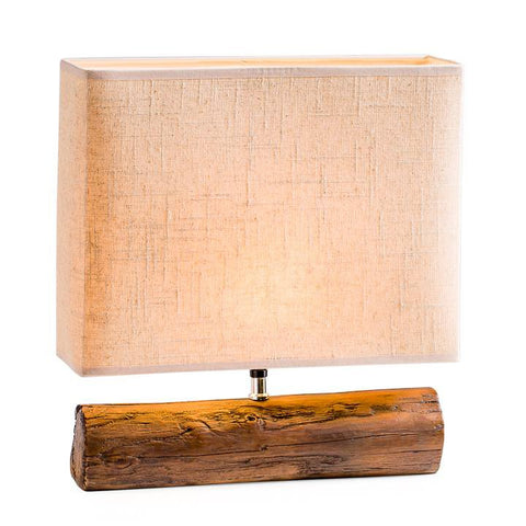 Resin Log Lamp - Brown