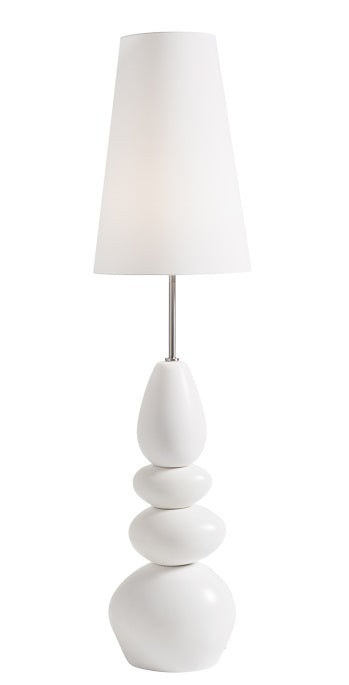 Oslo Ceramic Stacked Stone Floor Lamp - White
