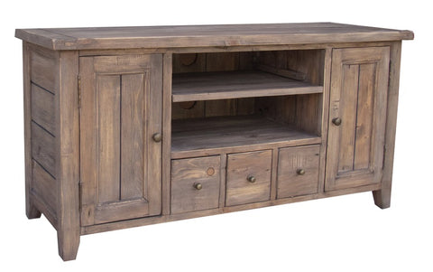 Sundried Reclaimed Pine TV Cabinet