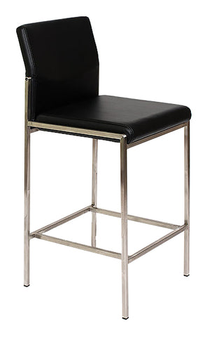 Angle Bar Stool - Black