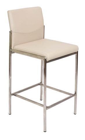 Angle Bar Stool - Taupe