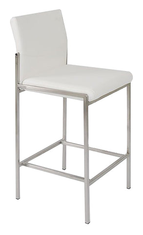 Angle Bar Stool - White