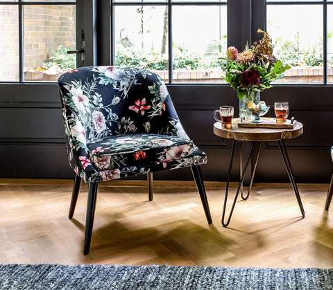 #SALE! Bree Chair – Dark Floral