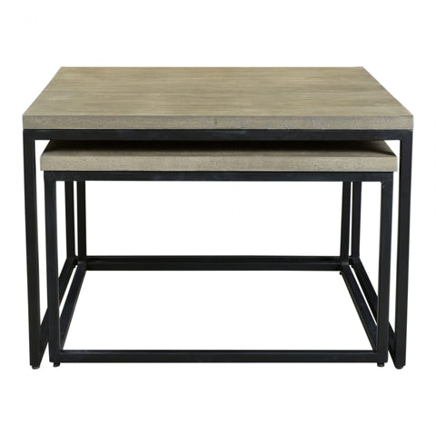 Drey Square Nesting Coffee Table - Set of 2