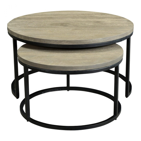 Drey Round Nesting Coffee Table - Set of 2