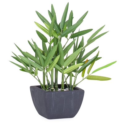 Bamboo Faux Potted Plant - Small