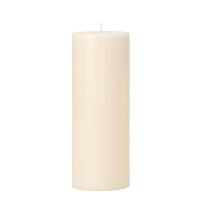 Prime Palm Wax Pillar Candle Large - Ivory