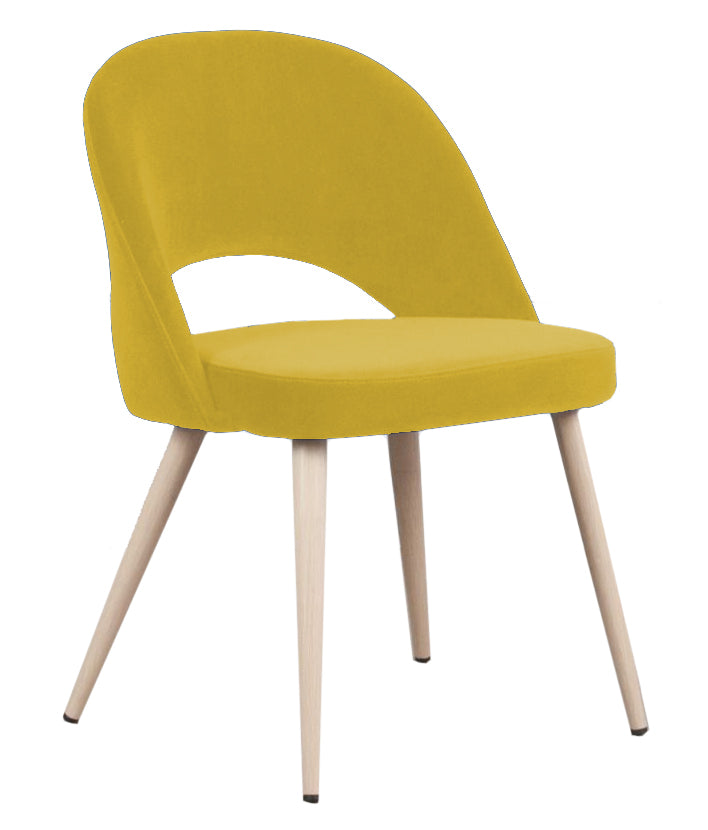 Coco Velvet Dining Chair - Mustard