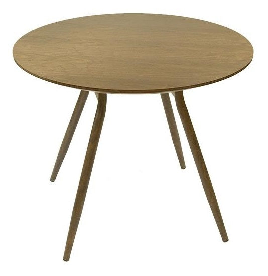 Caribou Round Walnut Dining Table
