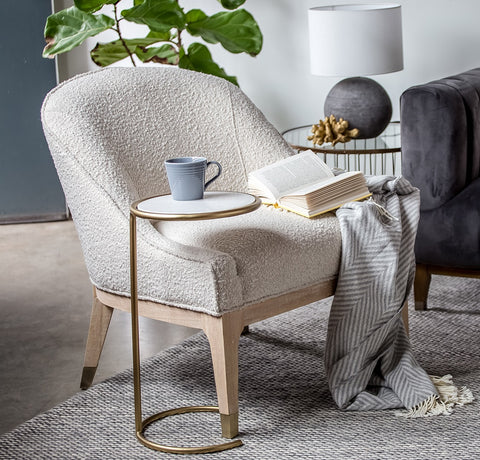 Emilia Chair – Cream Boucle