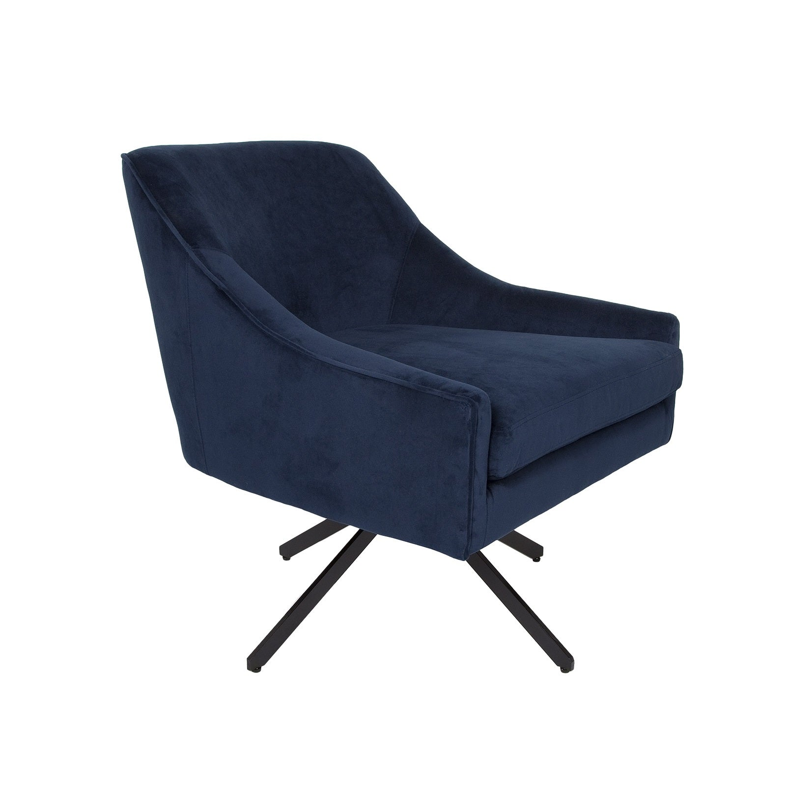 Ethan Swivel Chair - Ink Blue