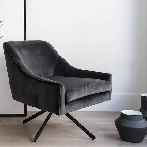 Ethan Swivel Chair - Smoke Grey