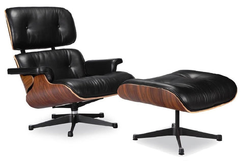 Charles Eames Lounge Chair & Ottoman - Black