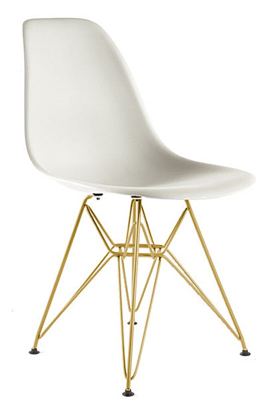 Eiffel Coloured Side Chair with Bronze/Gold Base