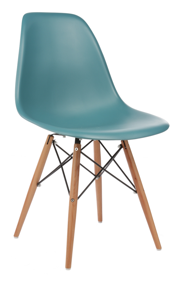 Eiffel Coloured Side Chair with Wood Base