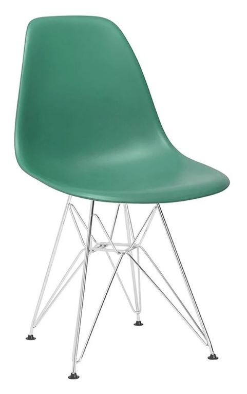 Eiffel Coloured Side Chair with Metal Base