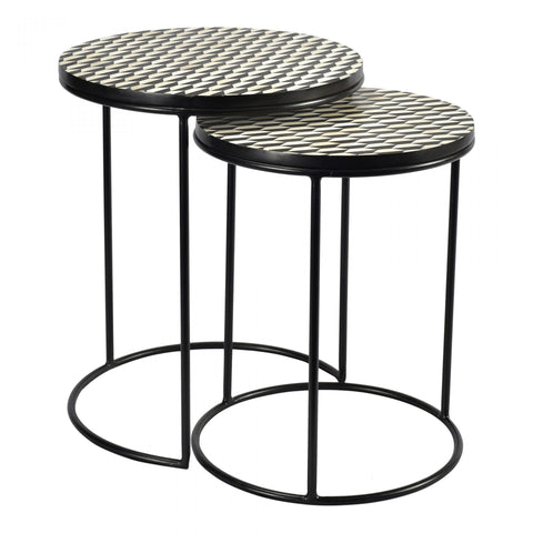 Optic Nesting Tables - Set of 2