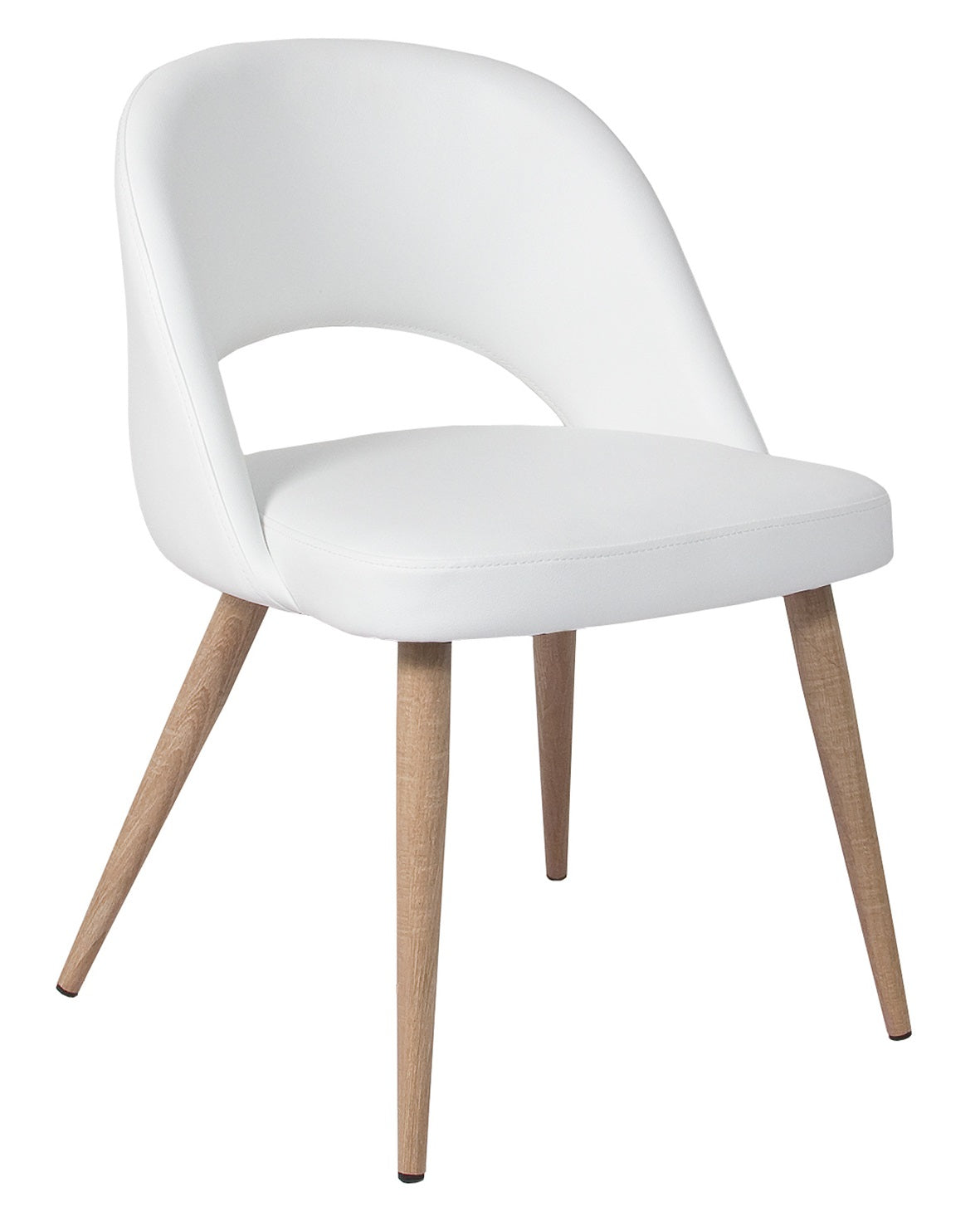 Harry Chair - White with White Oak Legs