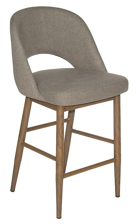 Harry Counter Stool - Slate/Black Walnut Base