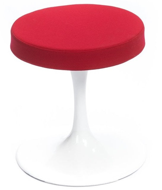 Dot Canvas Upholstered Stool - Red