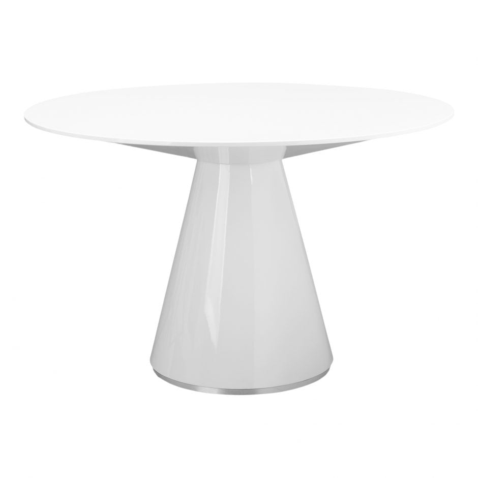 Otago Round Dining Table - White