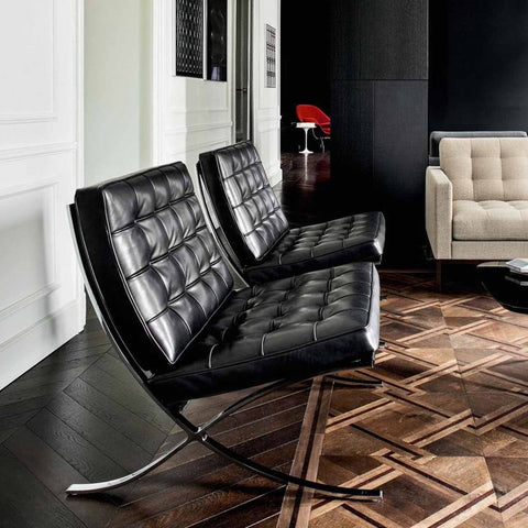 Barcelona Cross Chair - Black