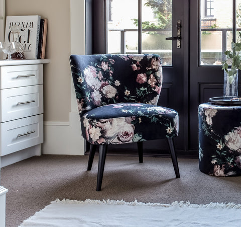 Mary Chair - Dark Floral
