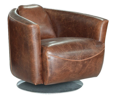 Lannister Swivel Club Chair - Brown