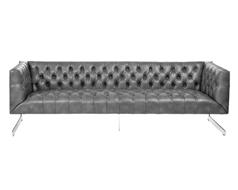 Viper Grey Nobility Leather Sofa
