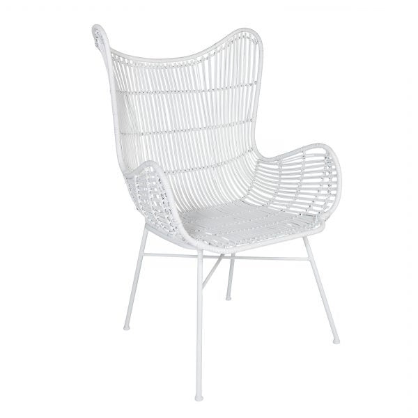 Weave Butterfly Chair - White