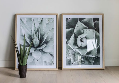 Glass With Wood Frame Wall Decor – Bloom A