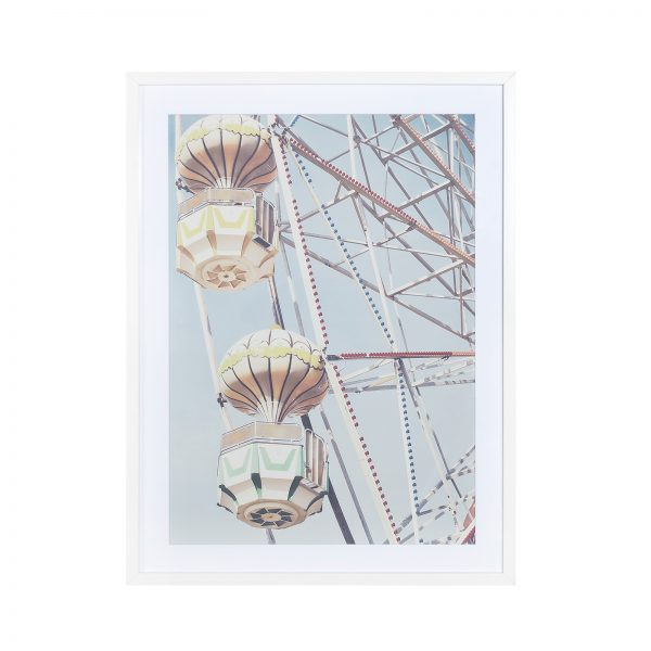 Glass With Wood Frame Wall Decor – Ferris Wheel C