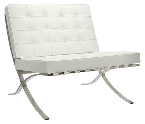 Barcelona Cross Chair - White