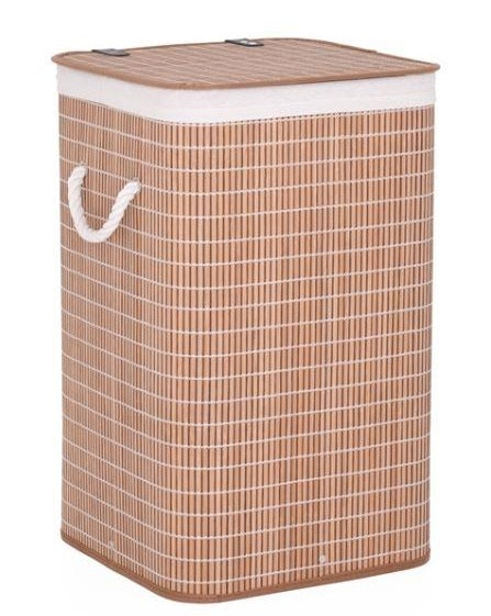 Kumi Bamboo Laundry Hamper Basket with Lid