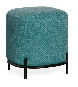 Pender Pin Leg Upholstered Stool - Blue