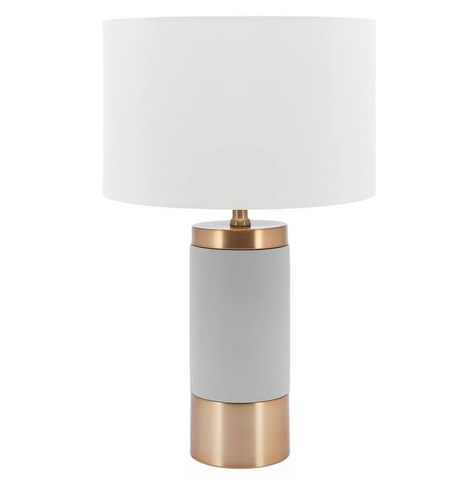 Loris Column Brass / Cement Table Lamp