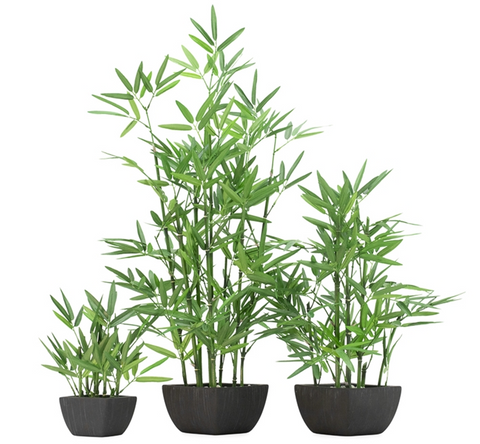 Bamboo Faux Potted Plant - Medium
