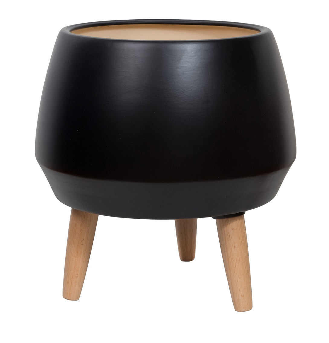 Circa Pot Planter – Black