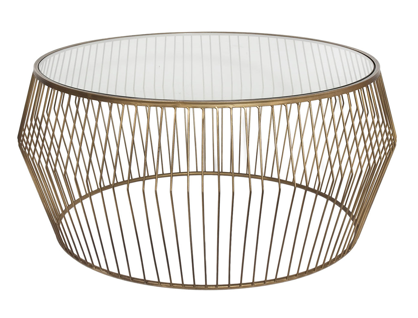Cyclone Wire Coffee Table - Gold