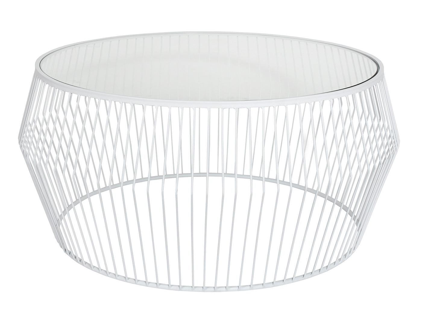 Cyclone Wire Coffee Table - White